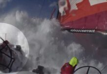 Huge Wave Knocks Down Nico | Volvo Ocean Race 2011-12