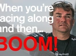 When you're racing along and then.. BOOM! | Volvo Ocean Race
