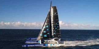 Amazing new boat. Nice job Team  Voile Banque Populaire !