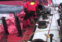 Just one of many sail changes | Volvo Ocean Race Redux