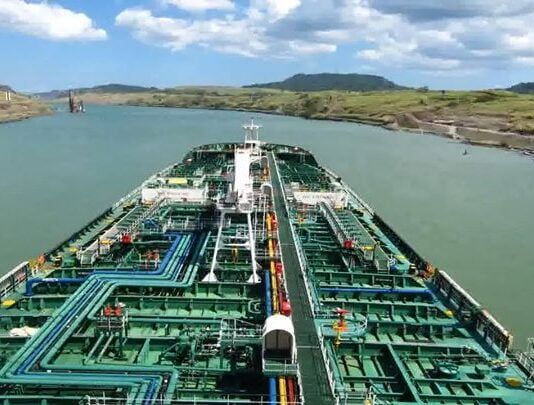 Product Tanker Transiting Panama Canal