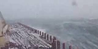 A Log carrier voyage through the Storm