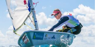 No Youth Sailing World Championships Tiago Quevedo continua entre os Top 10 da L...