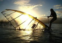 Windsurf na Lagoa dos Patos RS...