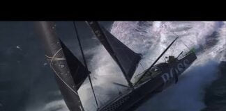 Alex Thomson 33 knots sailing with Paulo Mirpuri in big waves - fast and wild