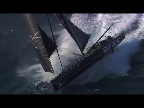 Alex Thomson 33 knots sailing with Paulo Mirpuri in big waves - fast and wild 2