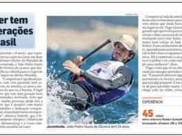Matéria do jornal O Estado de SP de hoje (23/11) traz o velejador Tiago Quevedo ...