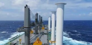 a MV Afros | ANEMOI Flettner Rotor System | Reduce Fuel Consumption