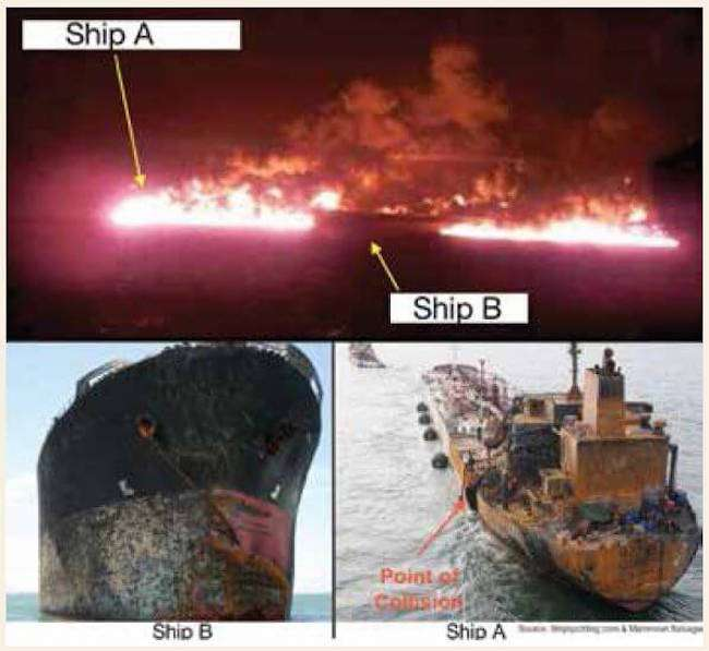 Real Life Accident: Collision Leads To Massive Explosion, Kills Nine Crew Members 1