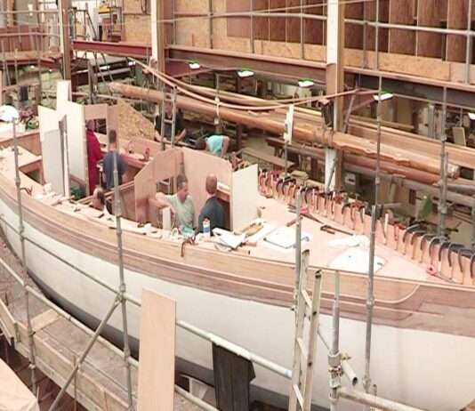 a Production Process Of Wooden Sailing Boats