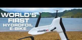 Manta5 Hydrofoiler XE-1 - World's First Hydrofoil E-Bike